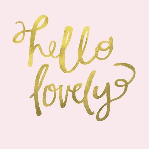 Hello Lovely in Soft Pink canvas