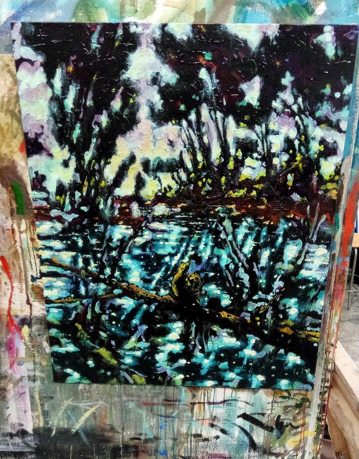 Romasotto, olio su tela, 60x50 cm, 2017 Nicola Facchini
