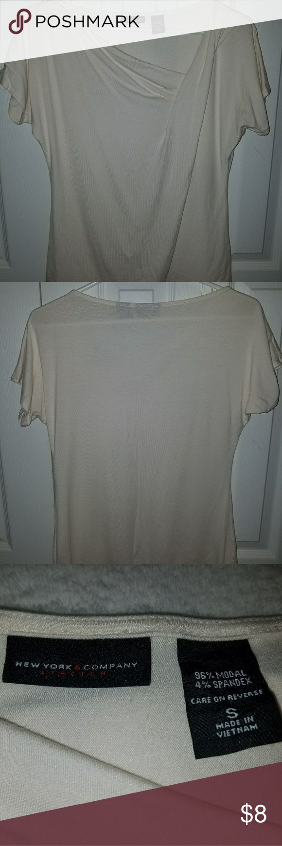 New York & Company shirt Size Small slouchy neck cream colored shirt New York & Company Tops Blouses