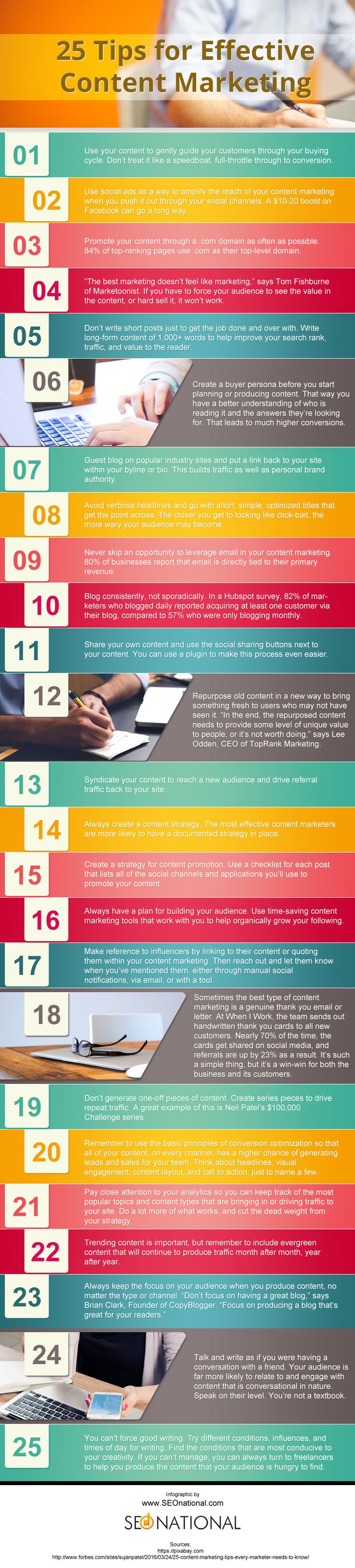 25 tips for effective content marketing tips