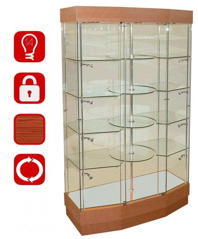 This Rotating Aluminium Display Cabinet Blends Affordability, Design And  Quality And Is A Part Of Our REV Range Of Display Cases. Our Glass Cabinets  Are ...