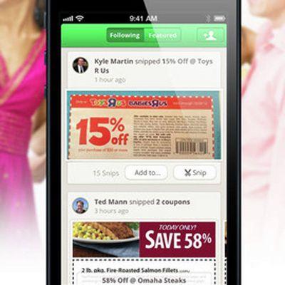 Manufacturer coupons app
