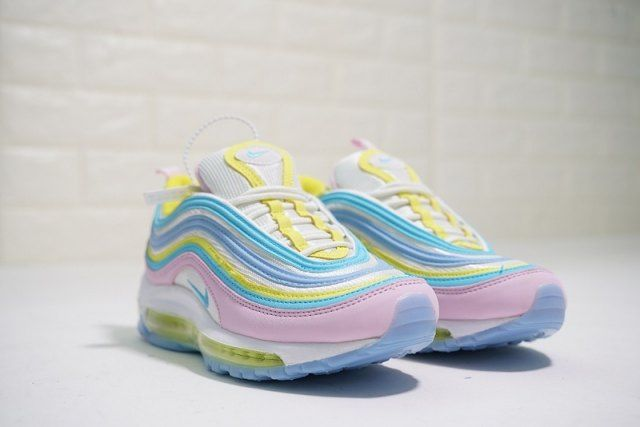 various colors detailing online store Nike Air Max 97 women's Running Shoes Yellow Blue Pink in ...