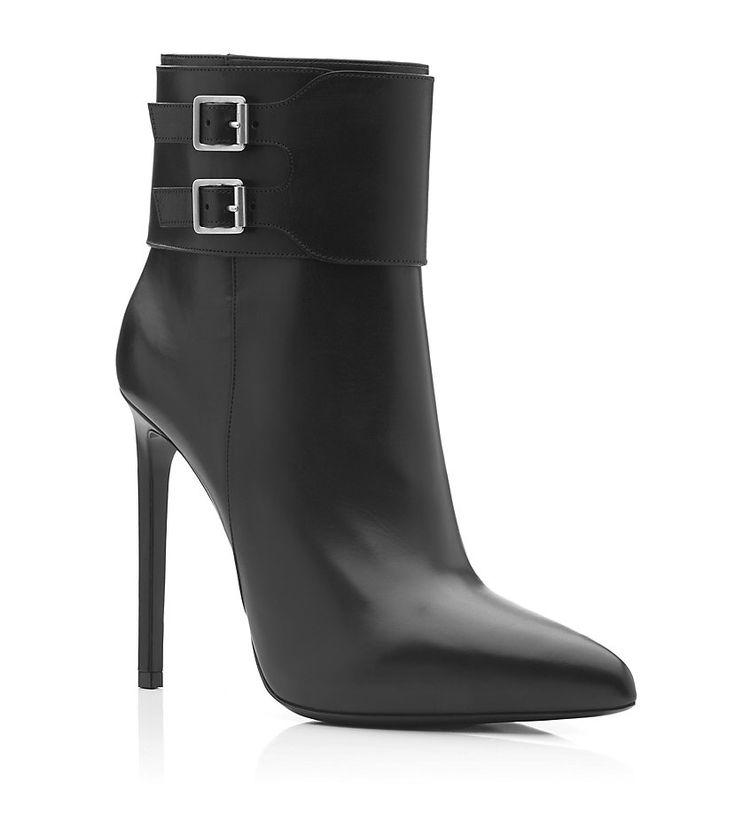 Saint Laurent Paris Paris Ankle Boot With Buckle Detailing| Harrods