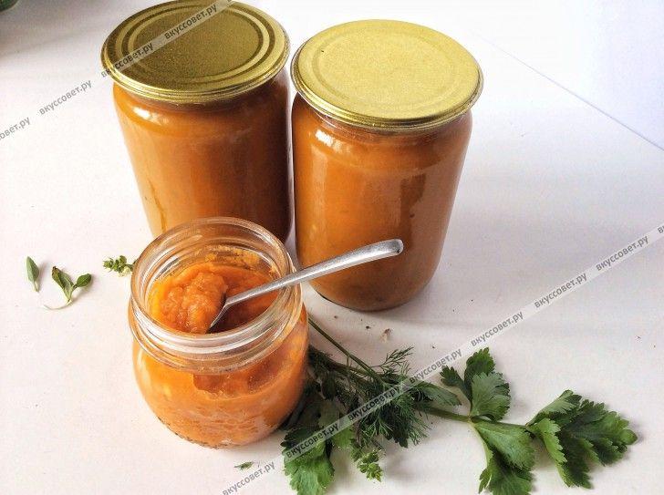 Кабачковая икра с морковью и томатной пастой на зиму (по бабушкиному рецепту)