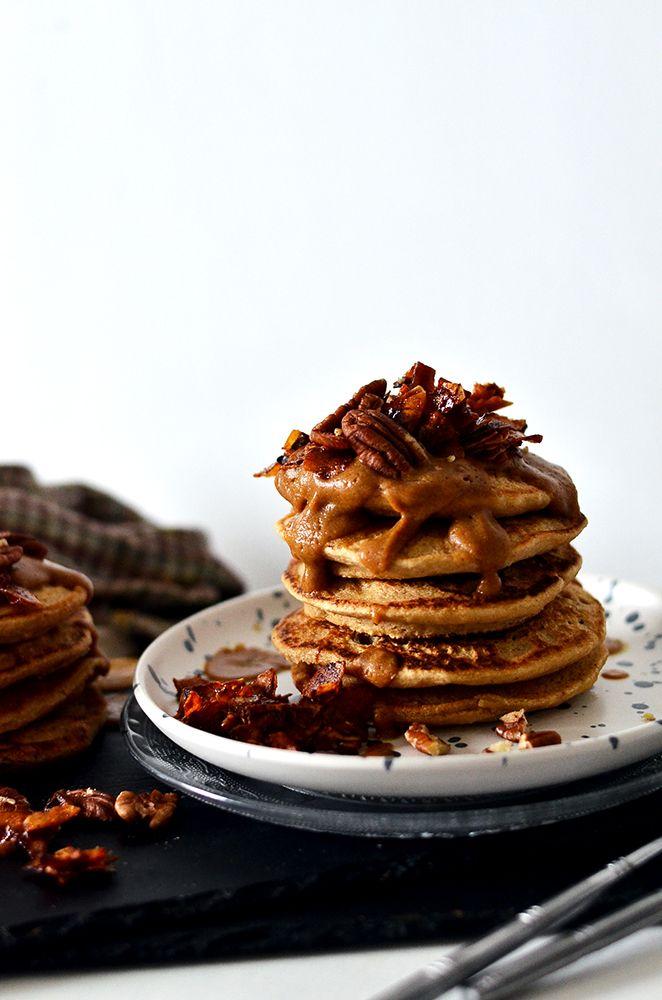 Maple Bacon Buttermilk Pancakes Recipe In 2020 Buttermilk Pancakes Vegan Bacon Maple Bacon