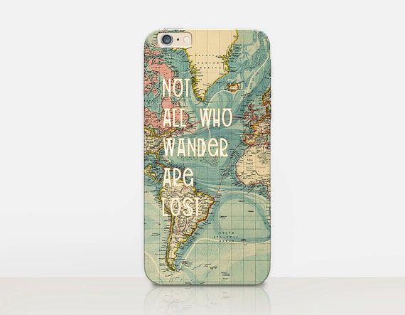 Wanderlust Quote Phone Case iPhone 6 Case  iPhone 5 by CRCases