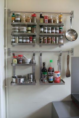 IKEA Hackers: Spice up your Grundtal racks: For pantry door, I'm going to have a pantry!