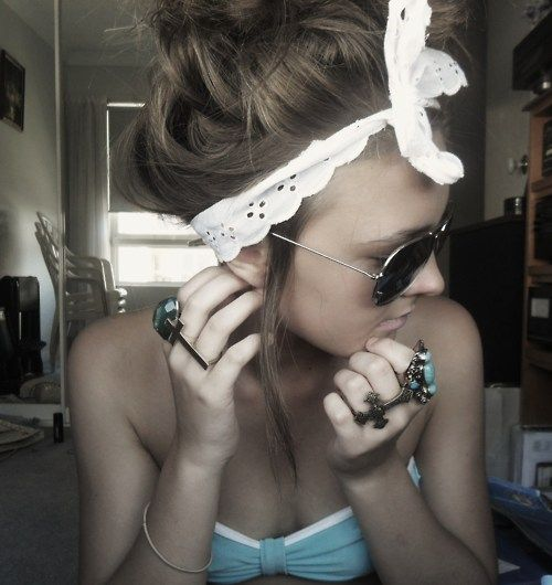 : Hairstyles, Fashion, Hair Styles, Hair Makeup, Head Band, Summer, Beauty, Accessories