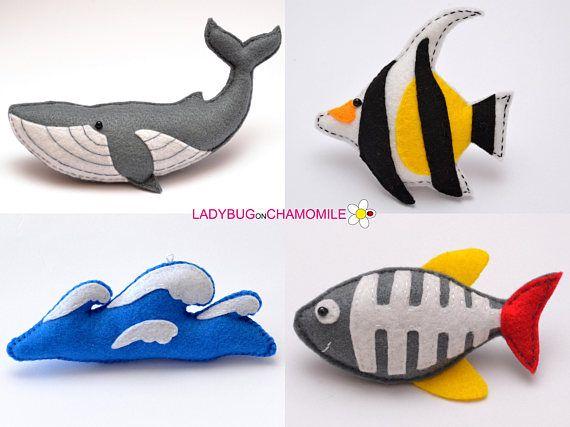 Filz Seekreaturen Und Fische Gefullte Filz Seekreaturen Magnete