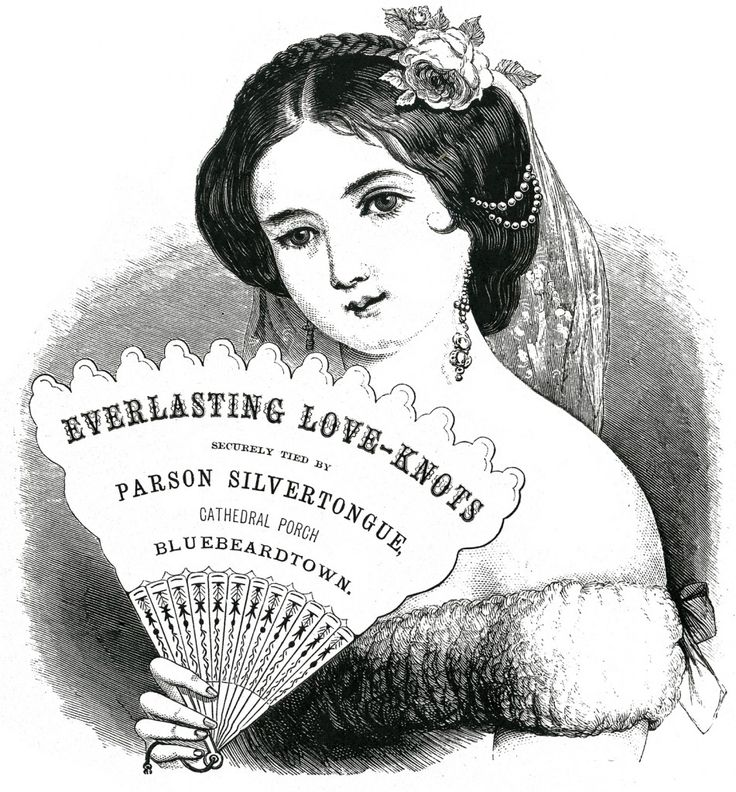 Free Vintage Label Image – Stunning Lady with Fan ~  This Vintage Label shows a lovely Victorian Lady with a Fan! The detail is amazing!! This is from a Circa 1880′s Antique Printer's Book. The woman has such a beautiful face, her hair is adorned with a Rose and some Pearls, she appears to be wearing a Lace Veil.l. The original shows advertising text on the fan (shown). The text has been removed on the second version, to use as a Label or a Gift Tag.   Downloads…
