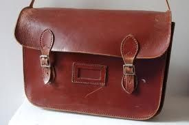 Did you own a brown leather satchel like this? #schooldays #nostalgia #childhood