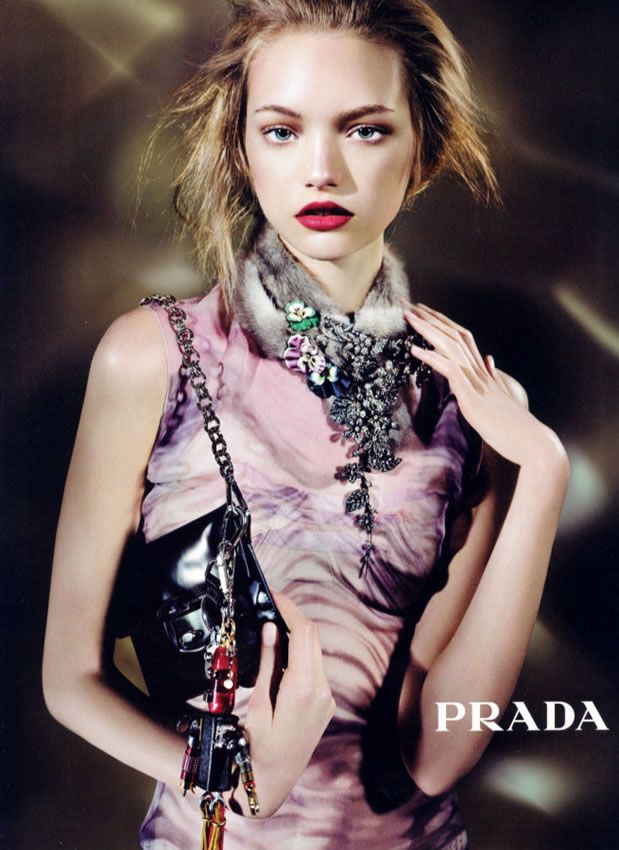 Gemma Ward for Prada, photographed by Steven Meisel