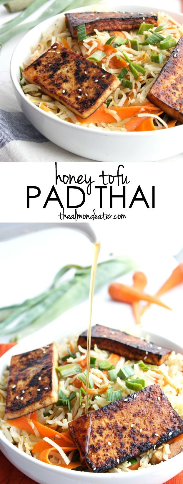 Flavored with toasted sesame oil and drizzled with honey, this pad thai is crazy flavorful!