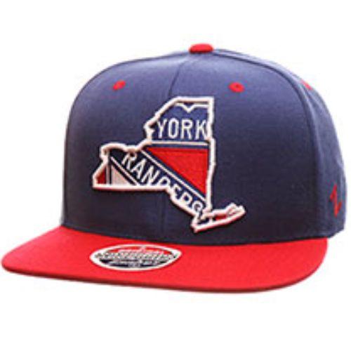 New York Rangers Zephyr Statement Flat Bill Snapback Hat NHL Cap New Blue #Zephyr #NewYorkRangers