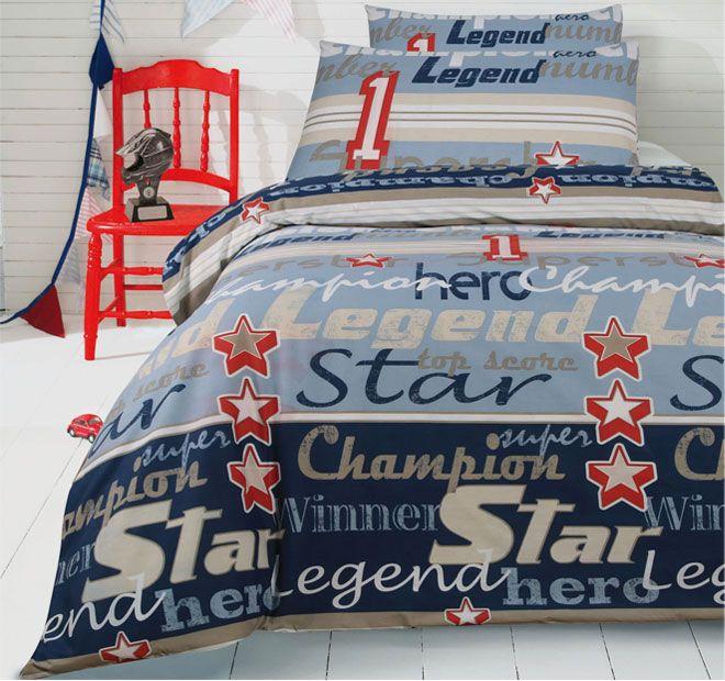 Ardor For Kids Champion Quilt Cover Set Range Blue