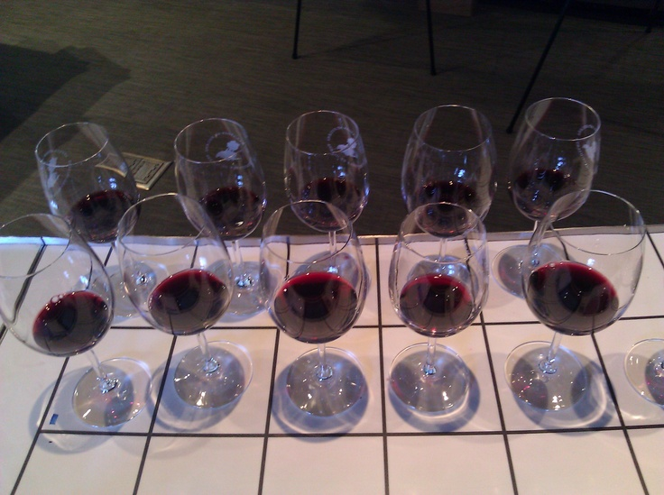 Just love the many wine glasses lined up!: Wine Glass