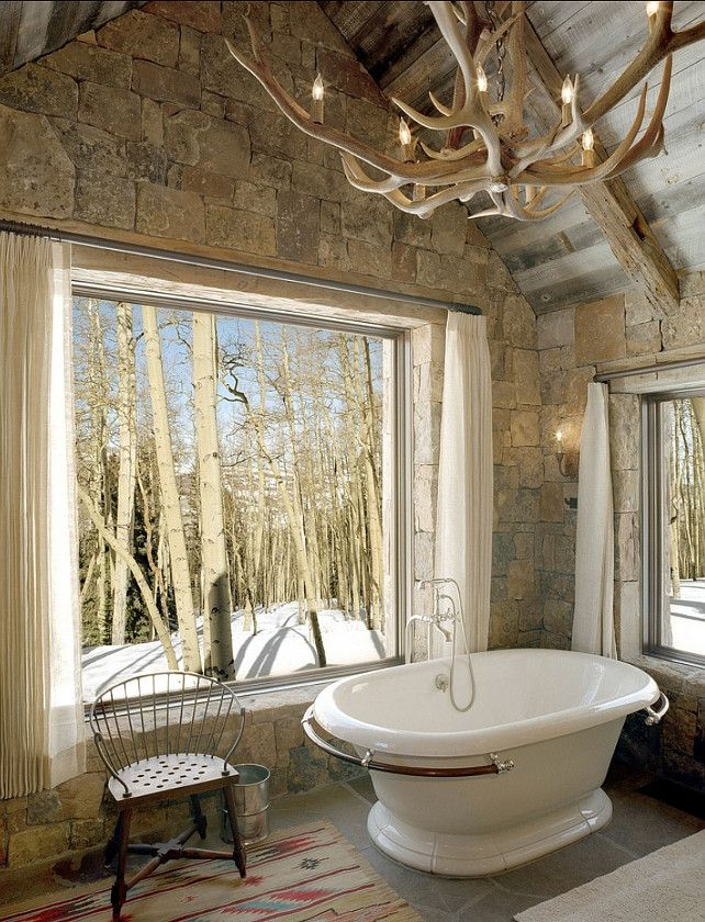 123 best Rustic Bathrooms images on Pinterest Room