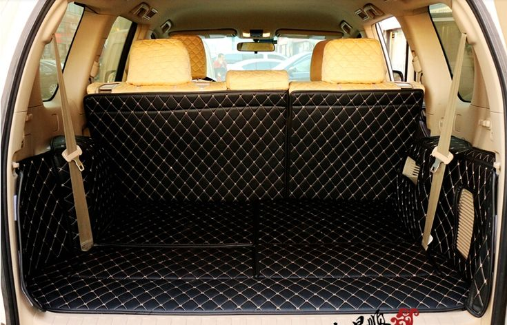 Newly! Special boot carpets for Toyota Land Cruiser Prado 150 7seats 2016-2010 durable trunk mats for Prado 2012,Free shipping