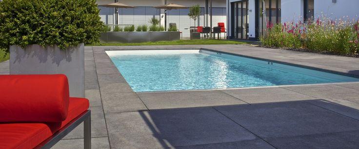 Schellevis tegel rondom zwembad verkrijgbaar bij zwembad pinterest - Outdoor decoratie zwembad ...