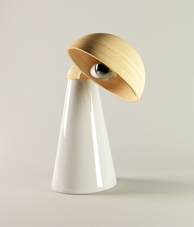 """The lamps designed by Claude Saos grabbed my attention due to their modern simplicity. What tickled my fancy the most is the La Lampada table lamp the cone-shaped base of which supports the lamp's stably rotating wood-crafted """"head"""". The Jump floor lamp however, resembles a jumping leg. Fun, simple, modernistic."""