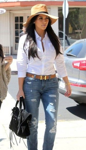 Kim Kardashian #celebs #denim
