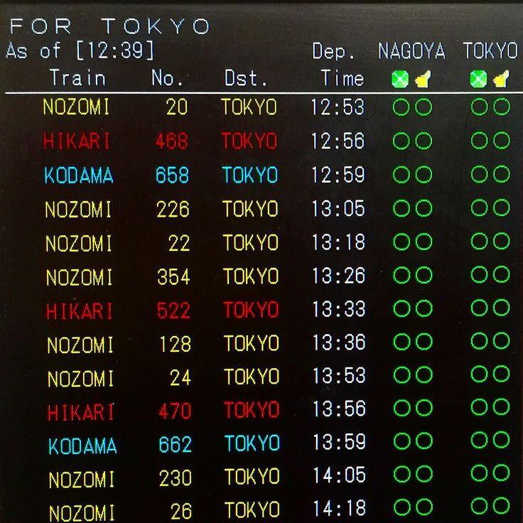 Синкансэн - современное высокоскоростное междугороднее метро. Интервал движения поездов между Токио и Киото - 3-5 минут.  Расстояние 476 км пути между Киото и Токио покрывается примерно за 2 часа 15 минут.  Среднее время опаздания за год меньше минуты. Исправно работает с 1 октября 1964 года. #этоЯпония  #транспорт #поезда #жд #железныедороги  #синкансэн #синкансен #туризм #путешествия #логистика #турывЯпонии #Япония  #Киото