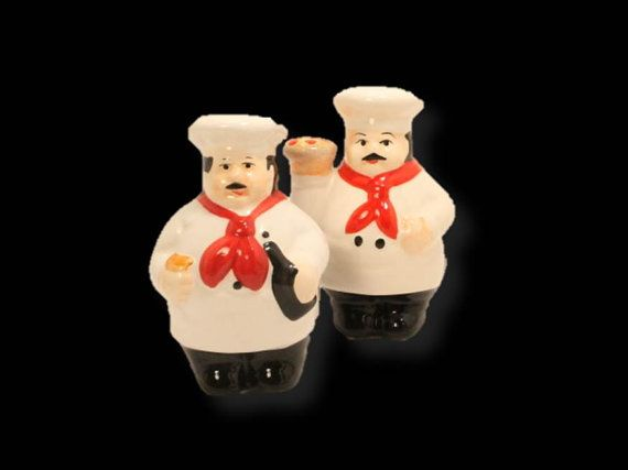 Salt and Pepper Shakers Ceramic Salt and by ClockworkRummage, $10.00
