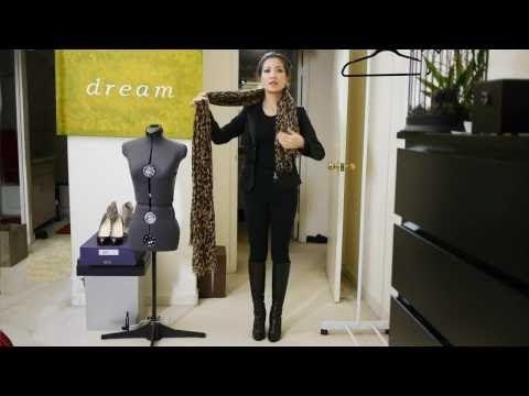 Wendy's Lookbook: 25 Ways to Wear a Scarf tutorial #2.