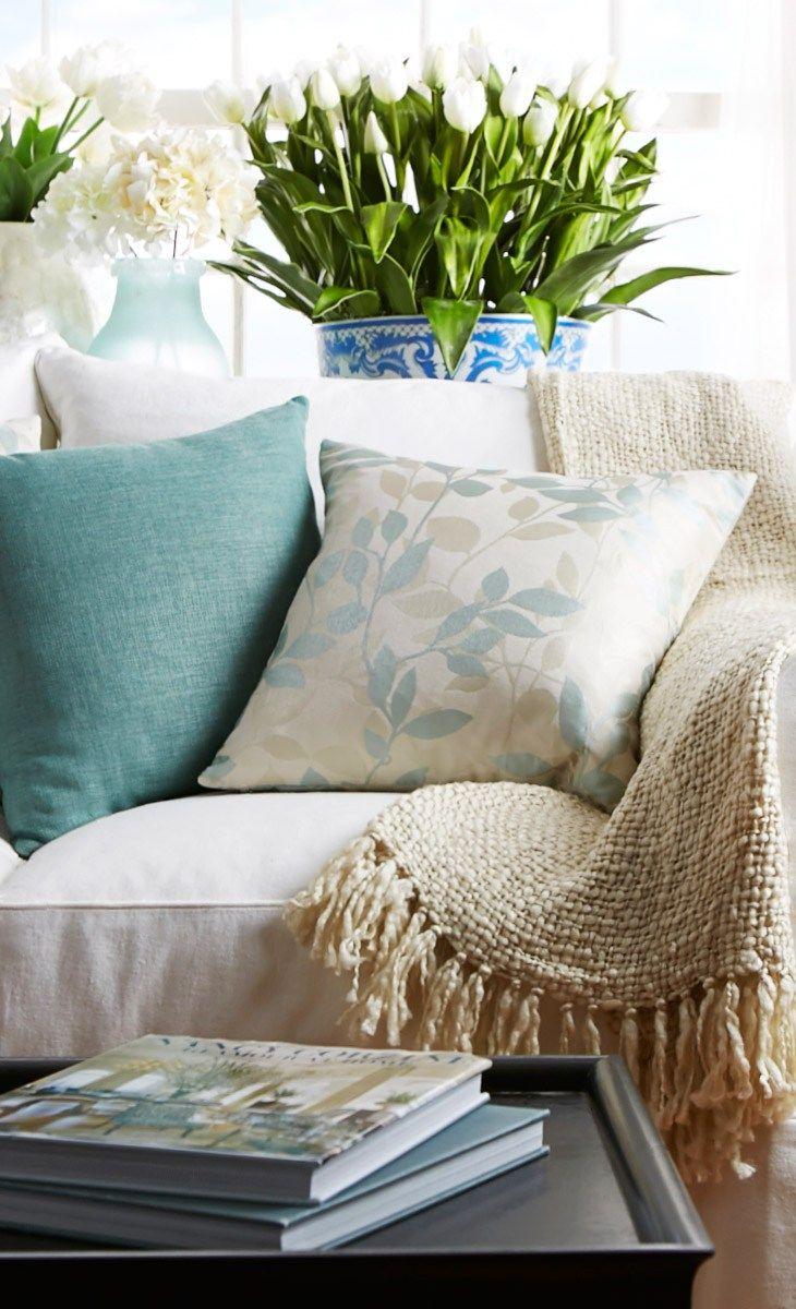 Cozy Nook Area // love the soft colors
