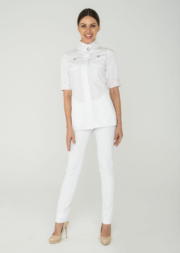 Блуза 1.65 принт/ Дизайнерская медицинская одежда www.lechikrasivo.ru #medicine