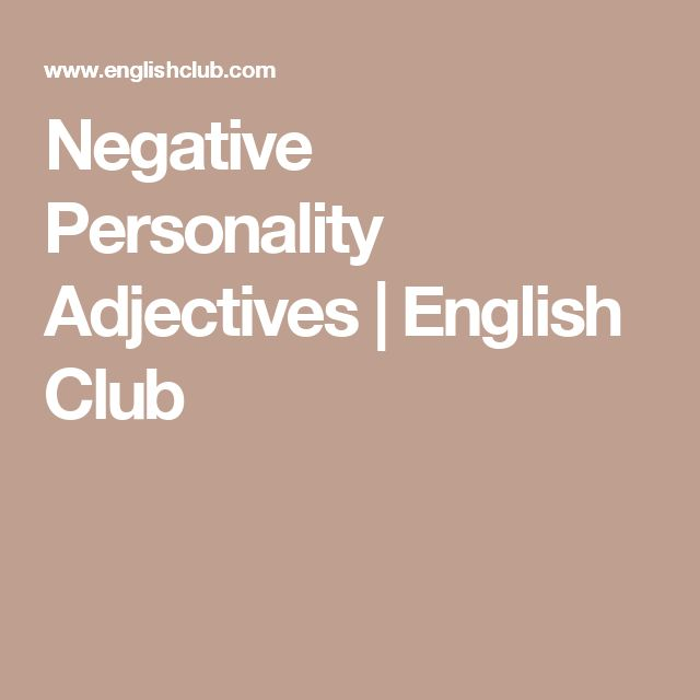 Positive Personality Adjectives
