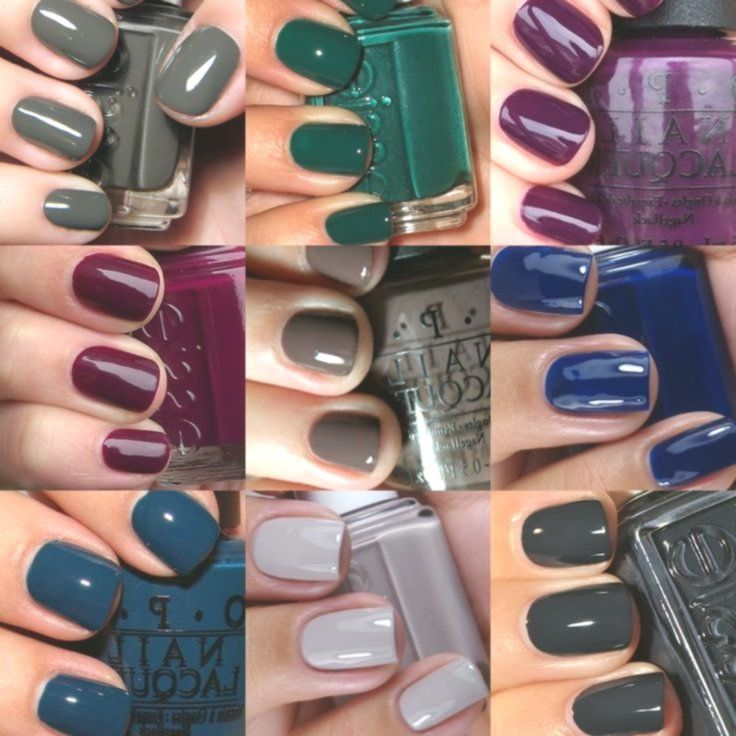 The Most Popular Nail Polish Colors For Autumn Nails 2017