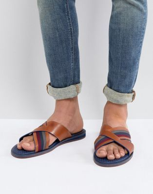 575c8f876 Shop Ted Baker Farrull sandals in brown leather at ASOS. Discover fashion  online.