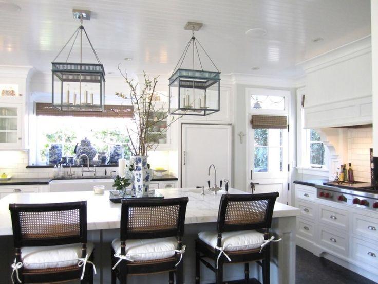 Beautiful White Kitchens 19 best kitchen marble island with dark perimeter countertops