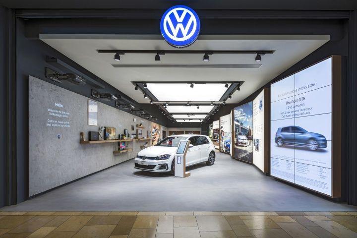 Volkswagen showroom by Dalziel & Pow, Bullring – UK » Retail Design Blog