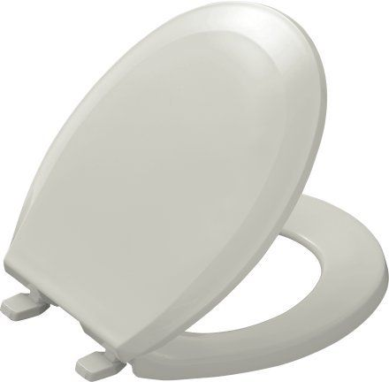 Kohler K-4662 Lustra Q2 Round Closed-Front Toilet Seat with Quick-Release and Qu