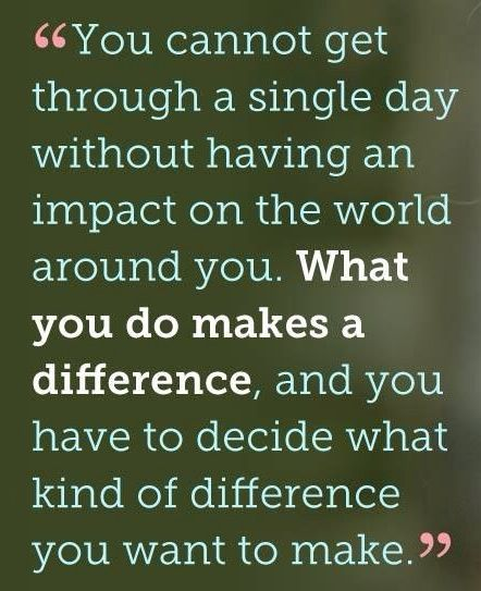 Make a difference. For yourself. Empower women in your life.