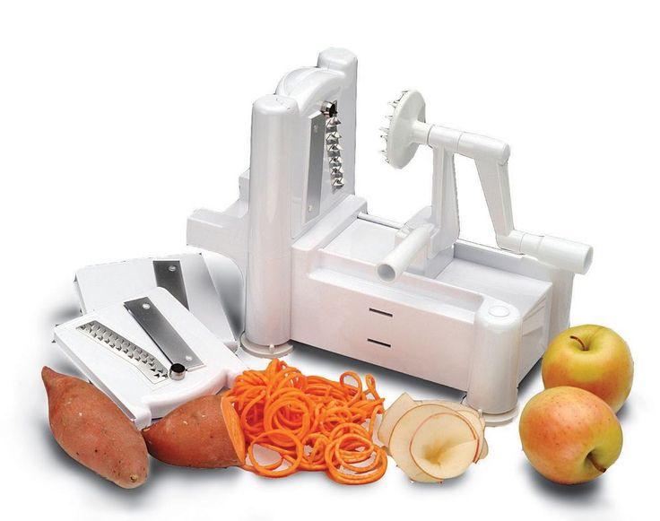 GABY RECOM - Spiral Vegetable Slicer Spiralizer Veggie Pasta Maker Fruit Chopper Shredder New #Plixio