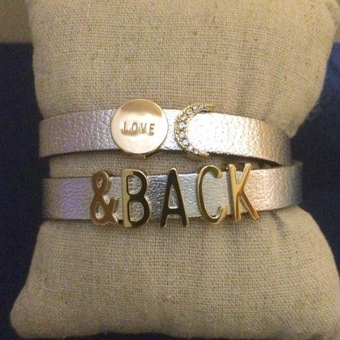 Love Moon & Back Leather Silver Bracelet – This That Gifts - boutique style at close out prices! Keep collective #keepstyle