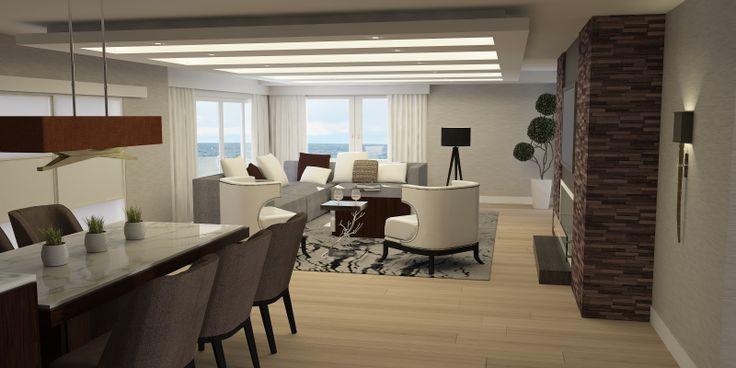 #Diseño Interior   #Estar #Comedor diario   #Render y #Modelado 3D ArchDigital Arquitectura+Diseño