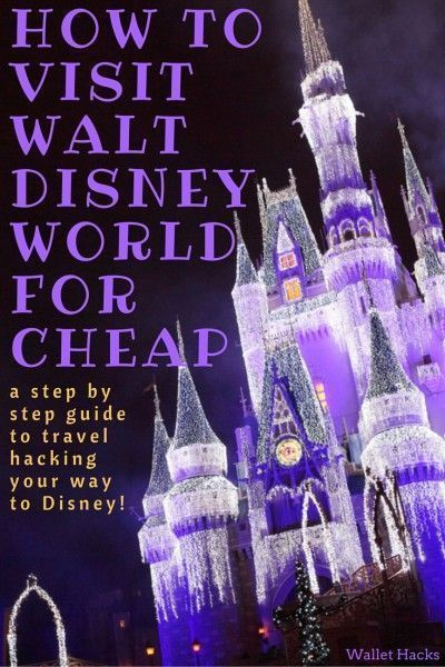 A vacation at Walt Disney World can be extremely expensive... unless you know some tips and tricks to getting there cheap. We share the best travel hacking secrets that will save you nearly $4,000 -- and have you staying in the best hotels (think the Swan and Dolphin resorts), hopping around the park, and planning on having a memorable time on a reasonable budget. | How to Save Money at Disney | Disney Budgeting Tips | Visit Disney for Cheap | Best Disney Tips and Tricks || Wallet Hacks
