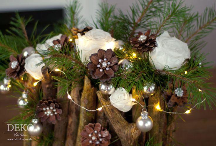 DIY: Weihnachtsdeko basteln - Adventsgesteck mit Zweigen Deko-Kitchen