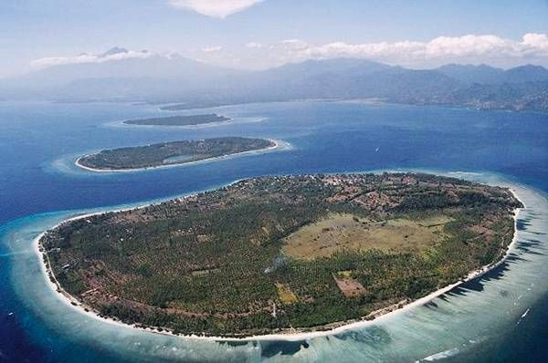 The Three Gilis From Sky - The Gili Islands