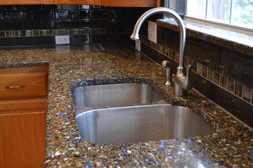 Vetrazzo Recycled Glass Countertop contemporary kitchen countertops