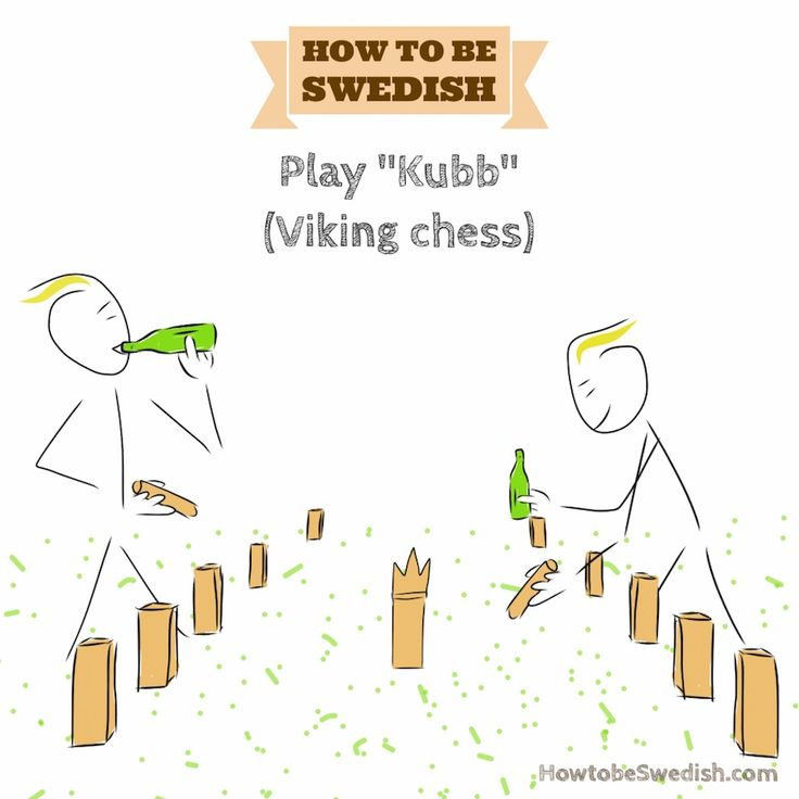 Play Kubb Viking chess - How to be Swedish
