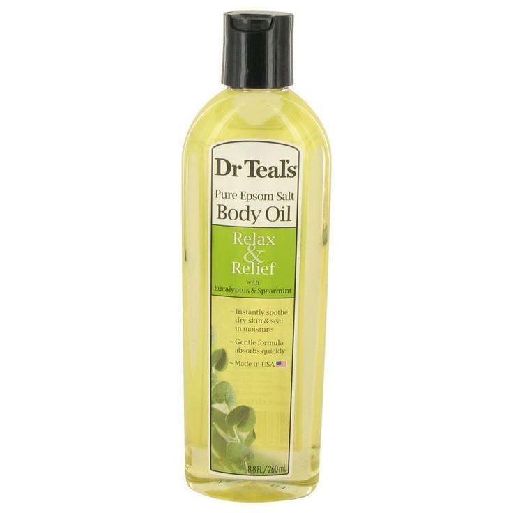 Dr Teal's Bath Additive Eucalyptus Oil Pure Epson Salt Body Oil Relax & Relief with Eucalyptus & Spearmint By Dr Teal's