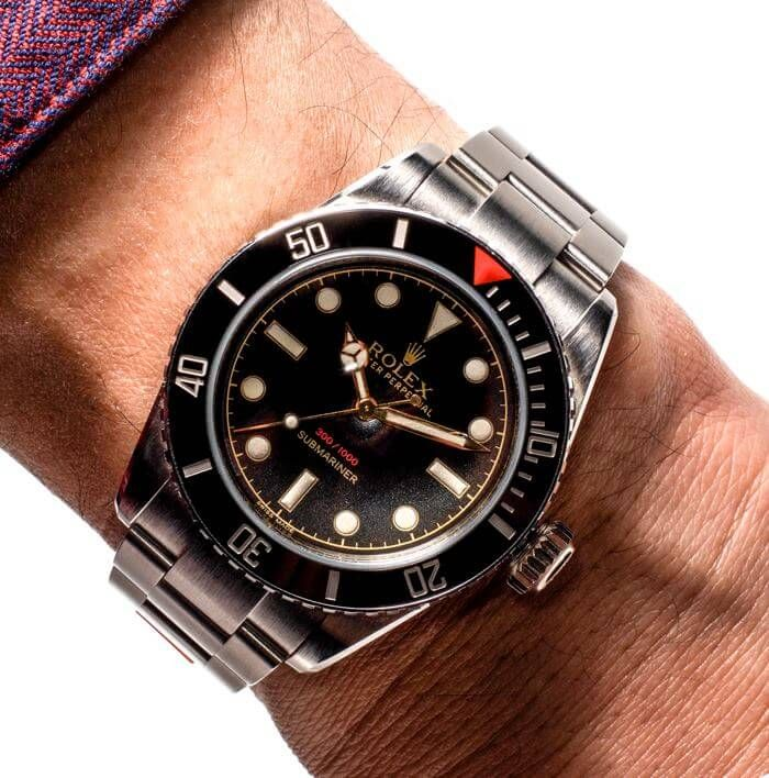 Usually I don't like modified Rolex watches, however I just love the Tempus Maschina ref. 216A