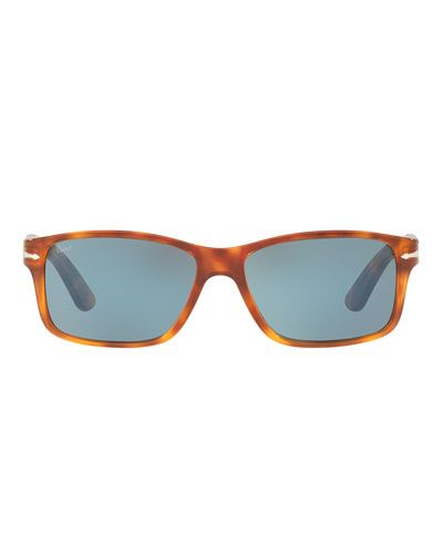 5cb253ffa8207 PERSOL RECTANGULAR PROPIONATE SUNGLASSES WITH GRADIENT LENSES.  persol