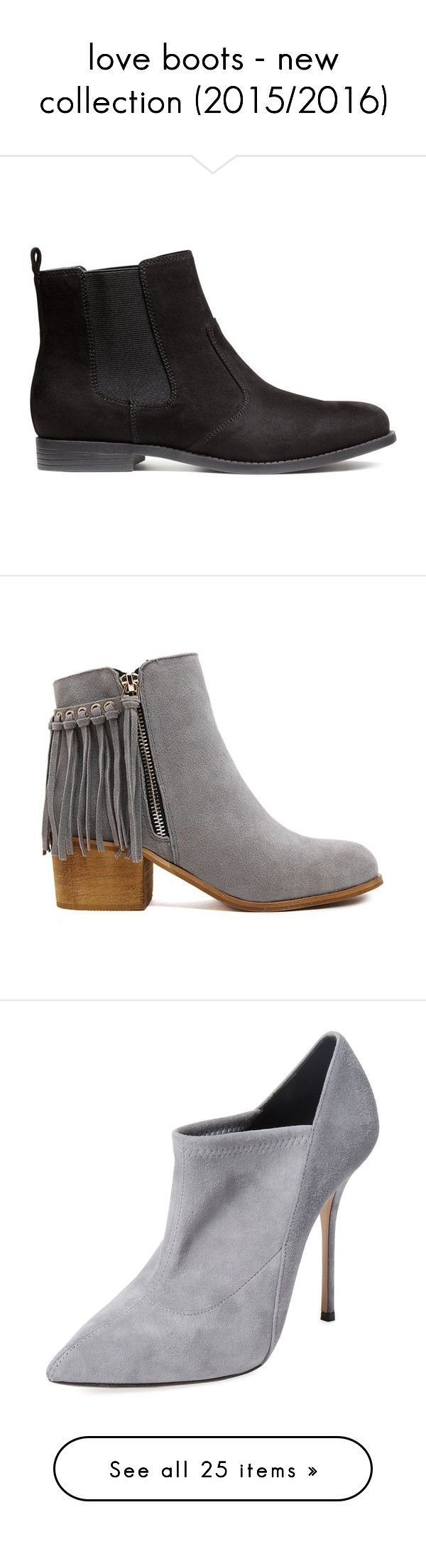 """""""love boots - new collection (2015/2016)"""" by bonadea007 ❤ liked on Polyvore featuring shoes, boots, ankle booties, black, stivali, chelsea boots, h&m boots, h&m, black chelsea boots and rubber sole boots"""
